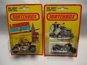 Matchbox Lesney Superfast SF50 Harley Davidson - two variations, blistercard