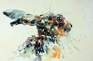 """rabbit abstract PICTURE CANVAS WALL ART """"20X30"""" ON OFFER"""