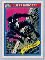 1990 Impel Marvel Universe #2 Spider-Man Black Suit RC Pack Fresh PSA Ready