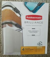 NEW Rubbermaid Brilliance Pantry Organization 4 Food Storage Containers