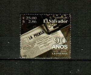 EL SALVADOR Scott's 1614 ( 1v ) La Prensa Newspaper F/VF Used ( 2005 ) #1