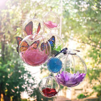 5-10cm Clear Fillable Hanging Ball Bauble Candy Box Ornament Wedding Party Deco