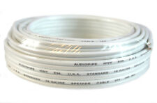 25' FT 16 GA Gauge White Stranded 2 Conductor Speaker Power Wire Car Home Audio