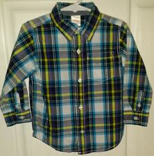 Gymboree Boy's 2T Polo Long Sleeve EUC Plaid Shirt