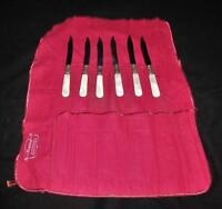 Silverware, Mother of Pearl Handle, Sterling Band, 6 Piece Dessert Fruit Knifes