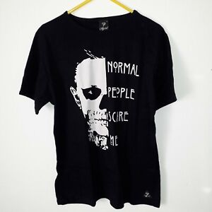 Mens large T shirt Normal people scare me black size large