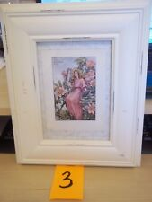 Framed The Wild Rose Marked Cmb Cicely Mary Barker Picture Shabby Chic Adorable!