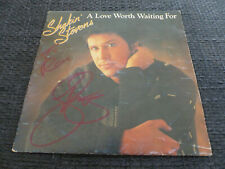 SHAKIN STEVENS signed signiert Autogramm A LOVE WORTH WAITING FO Platte InPerson