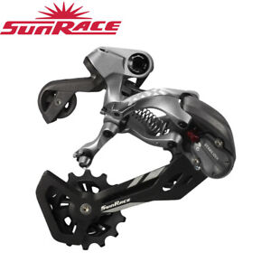 Sunrace RD-MX60 12/11/10 Speed Rear MTB Bike Derailleur - Medium Cage (Grey)