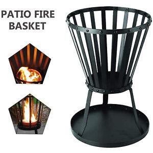 Steel Brazier Round Fire Pit Basket Garden Patio Heater Fire Pit Burner