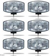 Bragan BRA1071X6 24V 9.5 inch Jumbo Oval ABS Spot Lamp with LED Park Bulb - 6 Pack