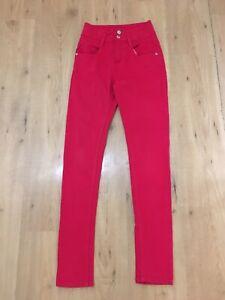 Topshop Moto Kristen Pink Denim Stretch Jeans High Waist,W26/L30,great!