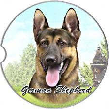 E&S Pets Absorbent Car Coaster Dog Breed Stoneware German Shepherd Puppy NEW