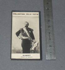 PHOTO IMAGE FELIX POTIN 1er ALBUM 1902 ALBERT PRINCE DE MONACO GRIMALDI