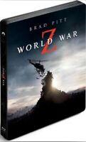 World War Z Limited Edition Steelbook 3D + 2D Blu Ray + Bonus DVD (Region 2)
