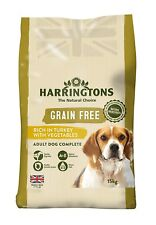 Harringtons Complete Grain Free Pet Dog Food Rich in Turkey with Veg 15 kg NEW