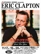 "Eric Clapton ""Japan Tour Just For You""2003 Osaka Concert Poster-Rock,Blues Music"
