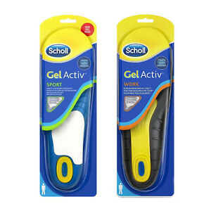 Scholl Gel Activ Insole Shoe Inserts - Mens & Ladies - Large range available