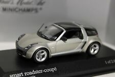 1:43 Smart Roadster coupe 2003 champagne remix Minichamps