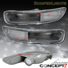 1993-1997 Toyota Corolla Front Clear Bumper Signal Lights (L+R) pair