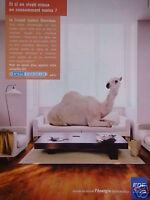 PUBLICITÉ 2002 EDF ELECTRICITÉ DE FRANCE - DROMADAIRE - ADVERTISING