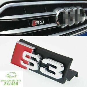 1 x Logo Fregio Stemma Emblema Griglia Anteriore Per AUDI SLINE S LINE A3 S3