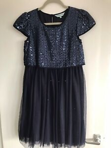 EXCELLENT CONDITION LITTLE DICKINS & JONES NAVY DRESS AGE 11-12 YEARS