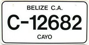 2008 Cayo Belize Central America automobile license plate # C-12682