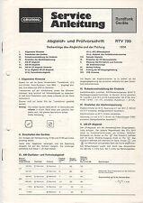 Grundig Service Anleitung Manual RTV 720   B875