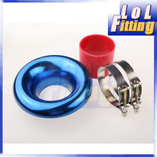 """5"""" UNIVERSAL VELOCITY STACK FOR COLD / RAM ENGINE AIR INTAKE / TURBO HORN BLUE"""