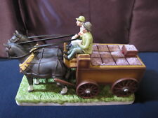 Wine Grape Cart and Horses Wine Decanter Mount Hope Collectible