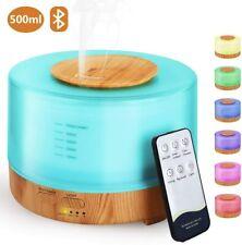 Aroma Diffuser 500ml Luftbefeuchter Ultraschall Aromatherapie Diffusor 7 LED Spa