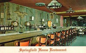 Vintage Postcard Springfield House Restaurant Springfield NJ New Jersey Dining
