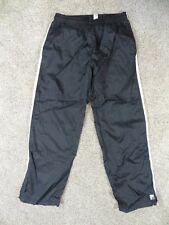 FILA Mens Size XL BLACK Athletic LINED Jogging ZIPPER Hem PANTS