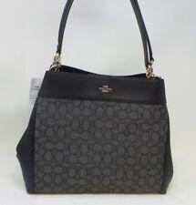 NWT Coach F27579 Black Signature Lexy Shoulder Bag MFSRP $375