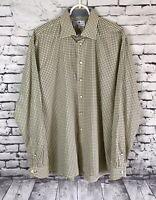 H. HALPERN ESQ Plaid Button Down Shirt Long Sleeve Mens Size Large