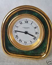 """Les Must de CARTIER"" desk travel alarm clock, gold higlights, laquer insert"