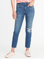 Old Navy Women The Power Jeans Ankle Perfect Straight Plus 18 20 22 Destructed