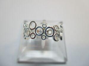 Bandring Damen 925 Sterlingsilber schmal Ringe glänzend Retro Vintage Rg 60/20