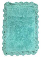 verde menta vasca da bagno tappetino doccia morbido 100% cotone all'uncinetto