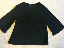Lane Bryant Top Size 14/16 Black Cute! EUC