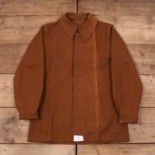 Mens Vintage 50s Brown Cotton French Railway Worker Chore Jacket Large 42 R13043