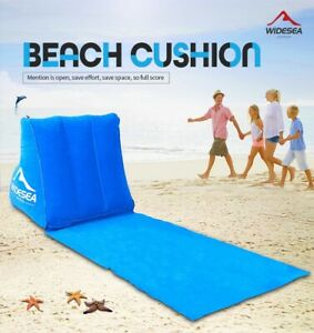 Inflatable Lounger Camping Lazy Lounge Air Bed Rest Outdoor Beach Lean Chair UK