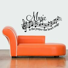 Wall Vinyl Sticker Decals Mural Design Mural Music Notes Prayer Heart Sing #849