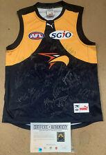 WEST COAST EAGLES SQUAD HAND SIGNED AFL FOOTBALL JUMPER SHUEY NAITANUI GAFF COA