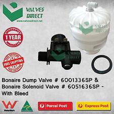 Bonaire Dump Valve # 6001336SP + Bonaire Solenoid Valve # 6051636SP - With Bleed