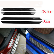 4X Car Door Sill Cover Carbon Fiber Plate Panel Step Protector Fit For Ford