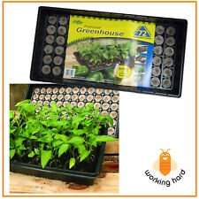 seed starter kit tray 72 piece seedling plant label peat pellets greenhouse dome