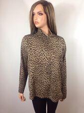 Jones New York Signature Leopard Print Silk Blend Turtleneck sweater, Size 1X