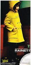 Publicité Advertising 1972 Les Manteaux pour enfants Rainett